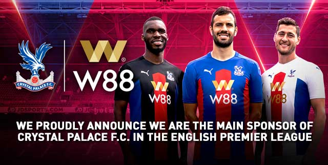 W88 as the new sponsor for Crystal Palace