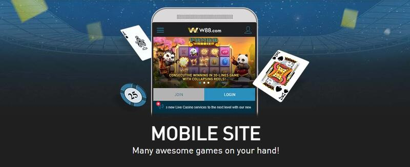 Visit m.W88 Website and Play Straight to Phone - Mobile Site